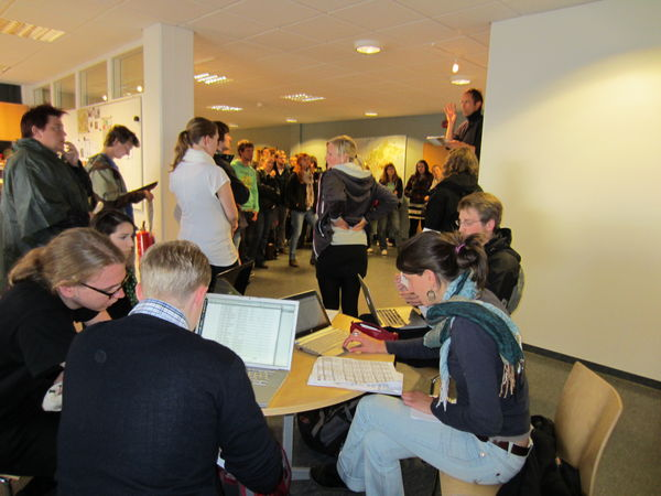 The halls of the University Centre were packed when the group of students was welcomed earlier this week.