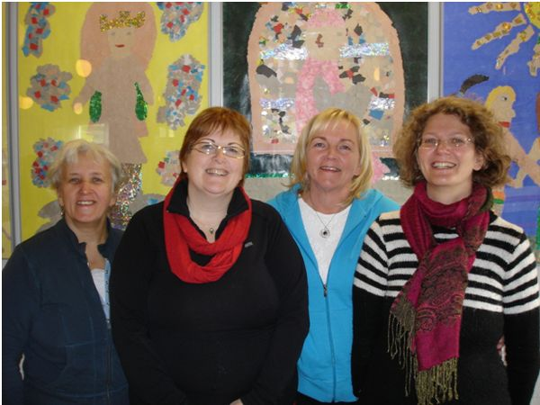 The four teachers that supervise the project The Art is in Our Hands at the Elementary School in Bolungarvík.