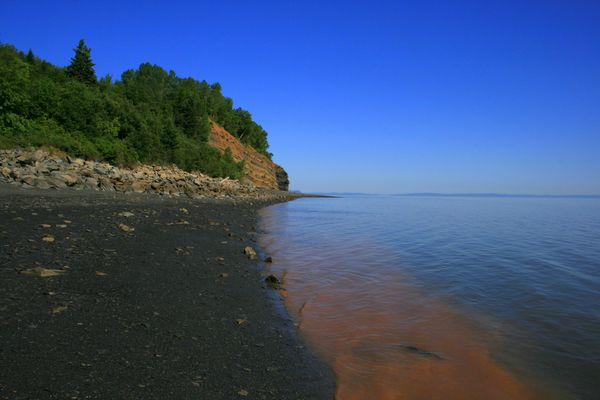 A place to harness tidal energy? Blue Beach, Bay of Fundy. Photo: Carrie Drake