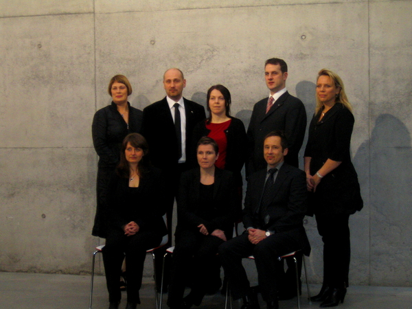 The first students graduated from the Preparatory Program at the University Centre in January 2010 from Reykjavík University. Upper row from left: Málfríður Þórarinsdóttir, RU Preparatory Program director, Finnbogi Bjarnason, graduate, Sigurbjörg Benediktsdóttir, graduate, Guðmundur Óskar Reynisson, graduate, Guðrún Högnadóttir, executive director RU Open University. Lower row from the left: Martha Lilja M. Olsen, former Director of Education and Teaching at UW, Svafa Grönfeldt, rector of RU and Peter Weiss, University Centre director.