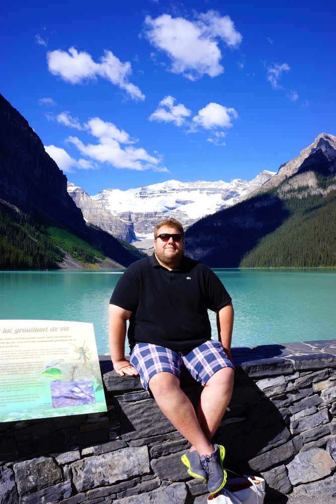 Me at Lake Louise when I first moved to Alberta in 2013.