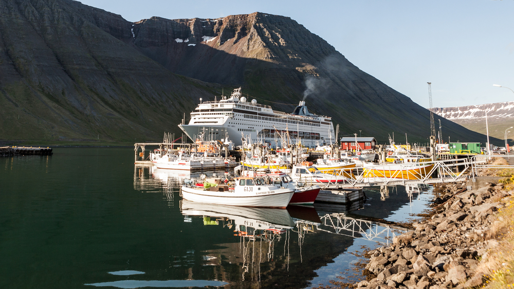 A conference on cruise ships, arranged by the University Centre of the Westfjords, will take place in the Edinborgarhúsið in Ísafjörður April 3rd. and 4th.  Photo: Ágúst Atlason.