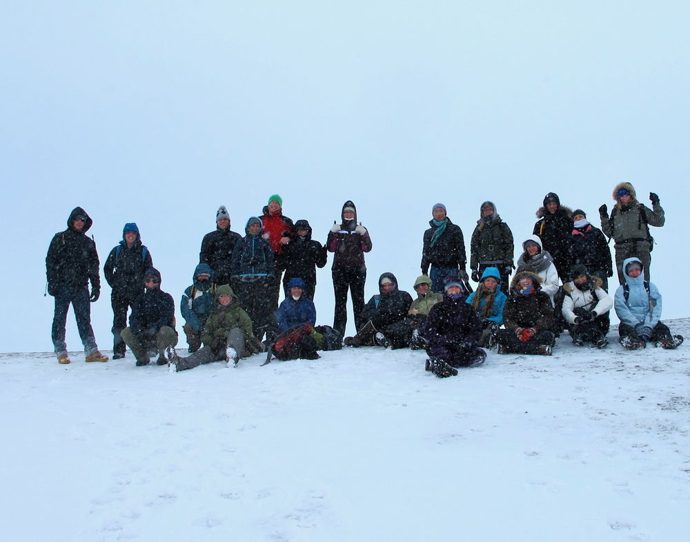 The 2011 Academic Travel to Iceland encountered a little snowy weather. (Photo credit: B. Hale)