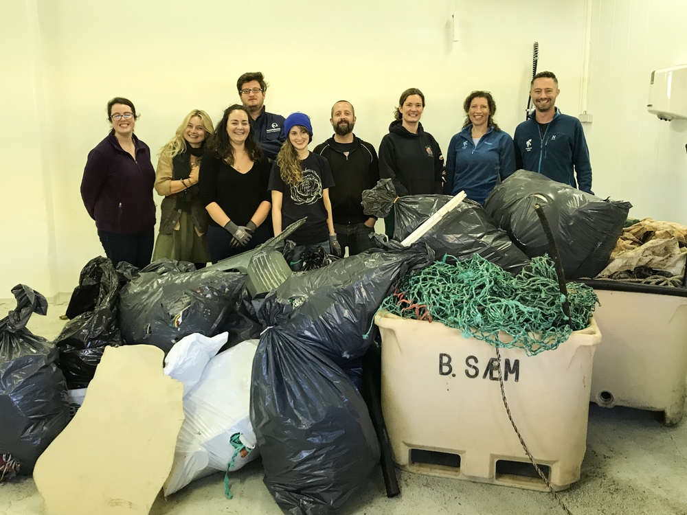 A part of the group participating in the Marine Litter Workshop.