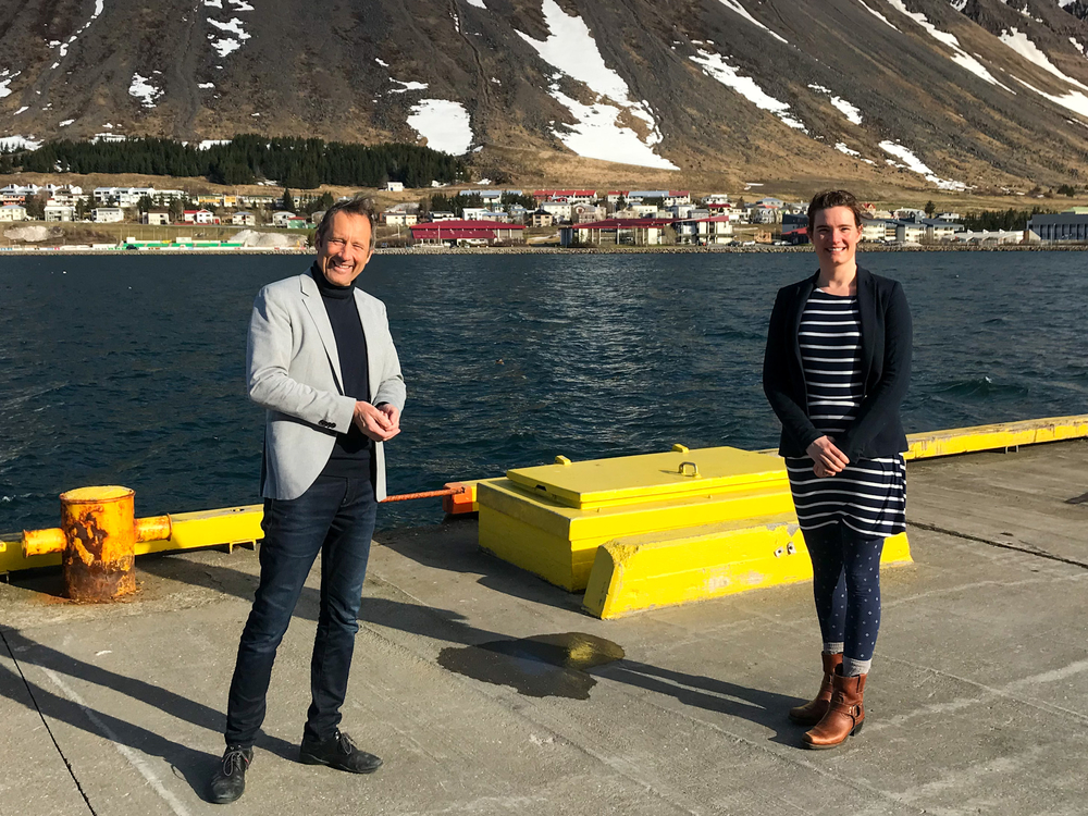 Dr. Peter Weiss, Director of the University Centre of the Westfjords and Dr. Catherine Chambers, former academic director and new research manager.