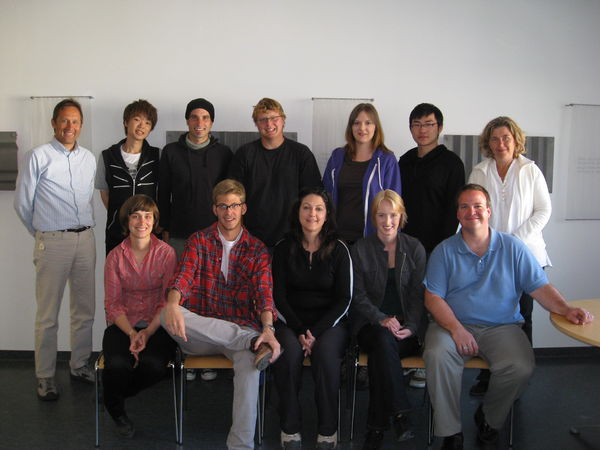 The 2009 Student Group from the University of Manitoba with their teacher, Dr. Birna Bjarnadóttir and University Centre Director, Dr. Peter Weiss.