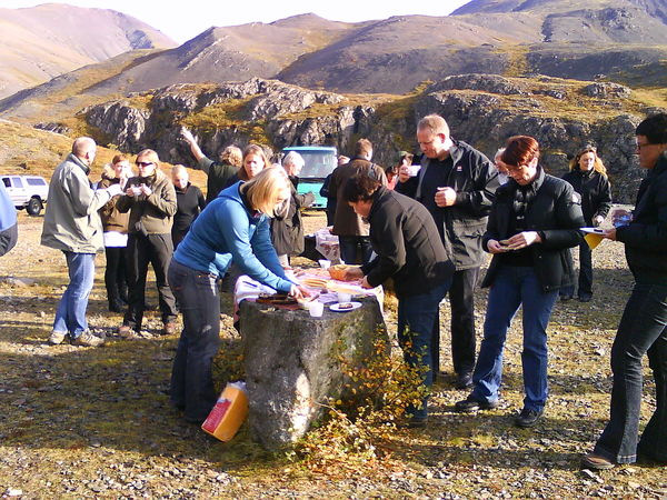 From a field trip that the participants of the meeting took to Geitafell near Hoffellsjökull glacier.