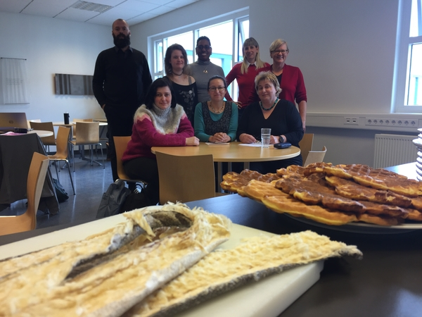 A Goodbye for the students of the Crash Course in May with Icelandic dry fish and some freshly baked waffles.