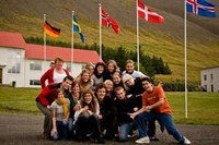 One of five classes that attended the Icelandic Summer School in 2008. Photo: Manuel Reitter.