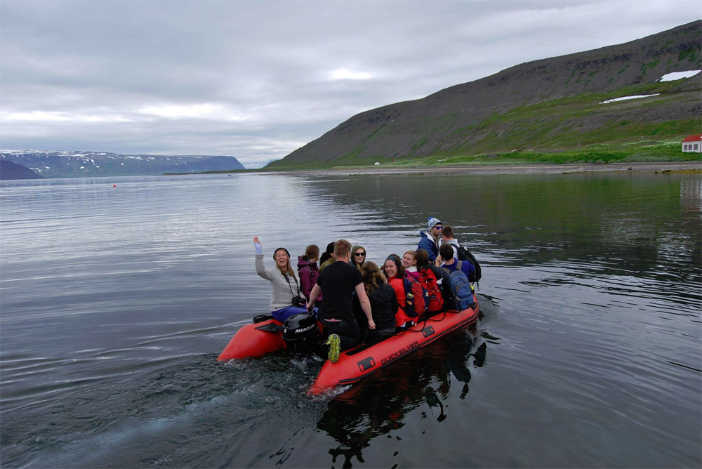 The SIT Field School in a trip to Hesteyri at the Hornstrandir Nature Reserve