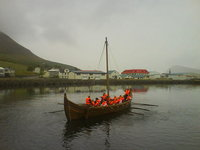 Sailing with viking ship V�steinn.