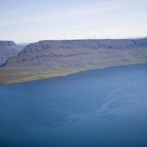 The Westfjords from above